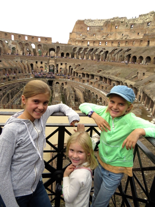Looking out over the Colosseum floor