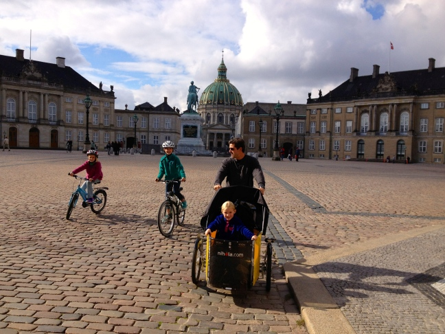 Cycling around the Royal Palace