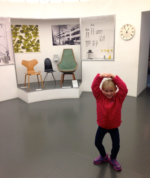 Inside the Danish Museum of Design - love these chairs!