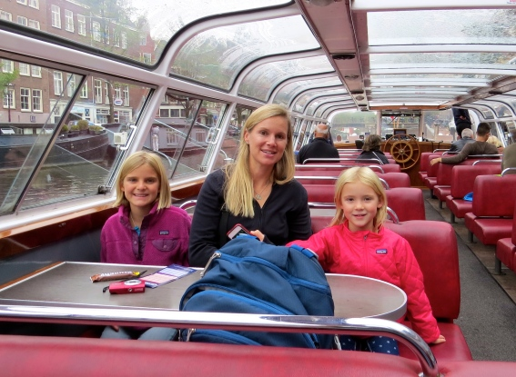 Touring the canals by boat