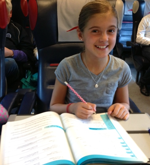 homework time on the train