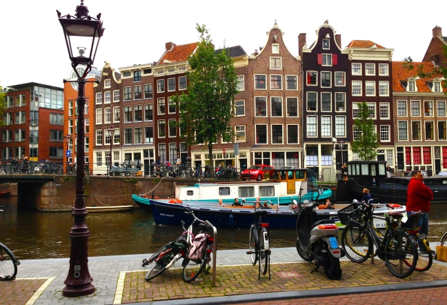 Beautiful buildings line the canals
