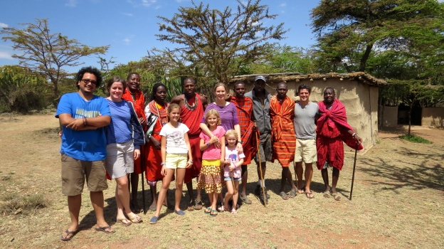 With our Maasai hosts