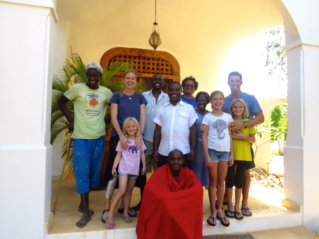 Our extended family while staying in Watamu