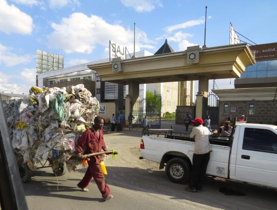 A snapshot while driving in Nairobi