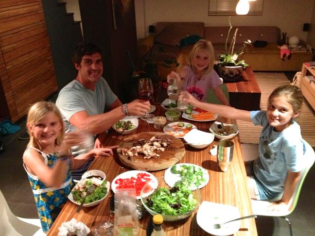 Enjoying a family dinner!