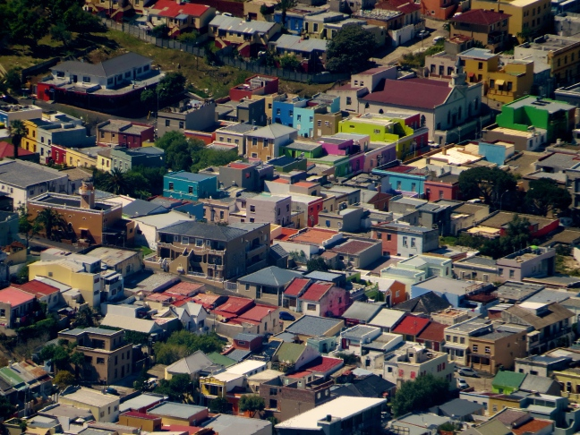 View of Bo Kaap from atop Table Mtn.
