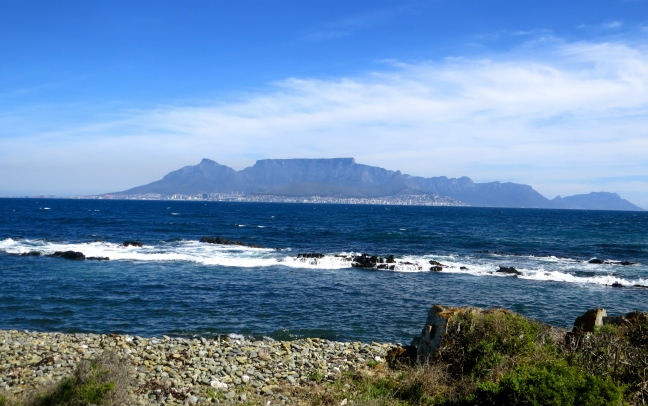 View of Cape Town from the shores of Robben Island