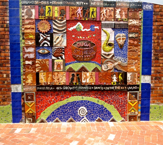 Mosaic at the entrance to the community art center