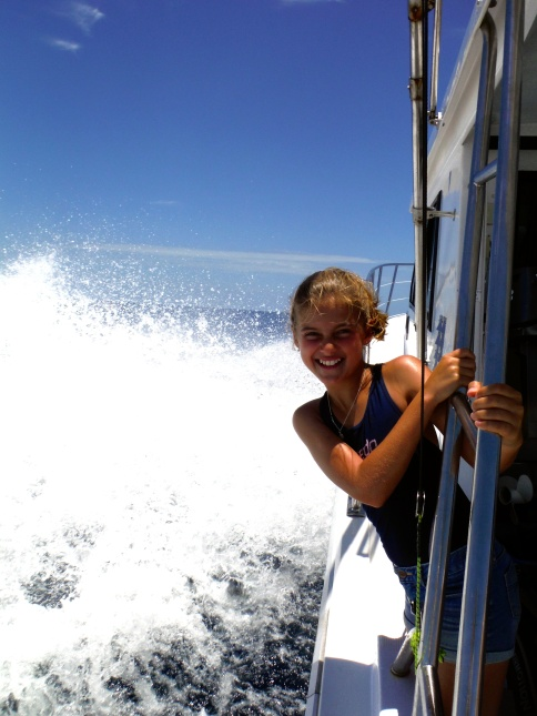 Schuyler on her way to a reef