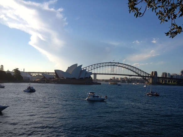View of the Sydney Harbour Bridge and the Opera House