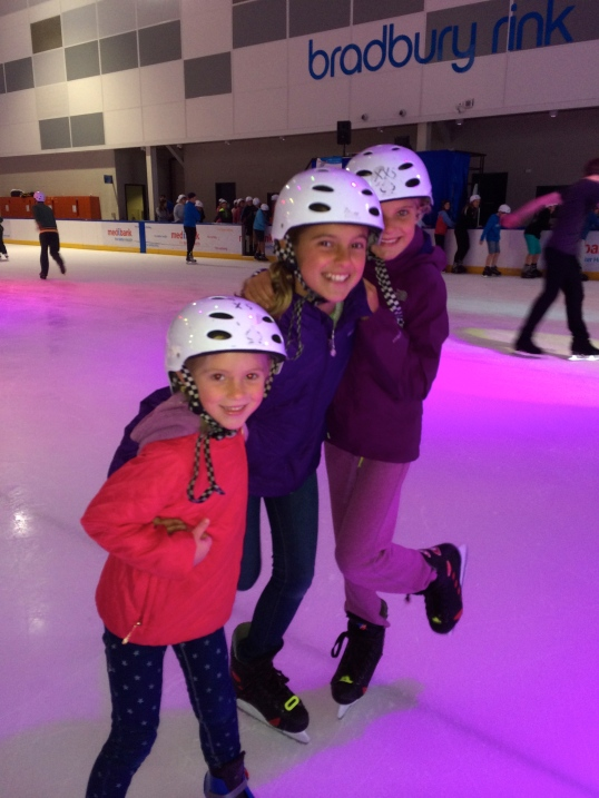 Being back on skates felt great for all 3 girls, but especially Schuyler!