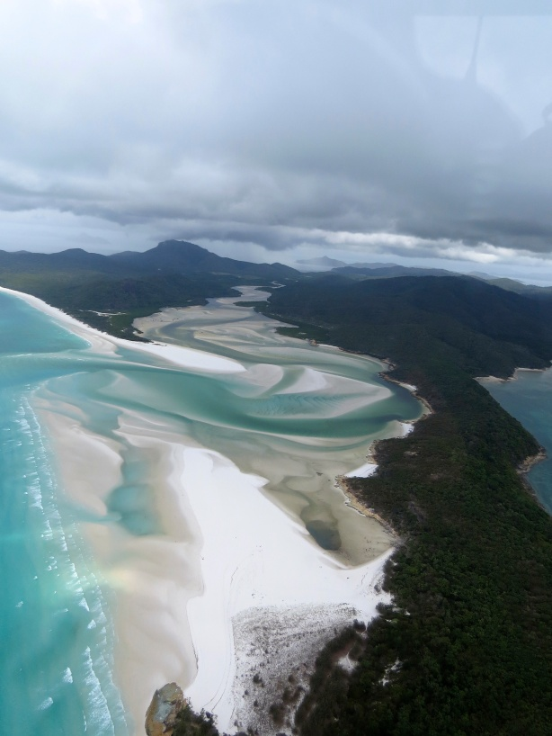 All of the Whitsundays look like this from above - amazing!