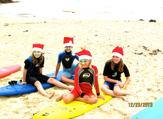 Santas little surfer girls
