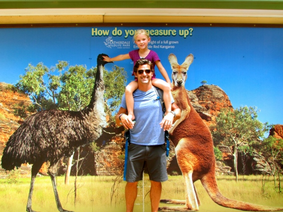 Jeff and Thayer measure up at Sydney's Wildlife Encounter Museum