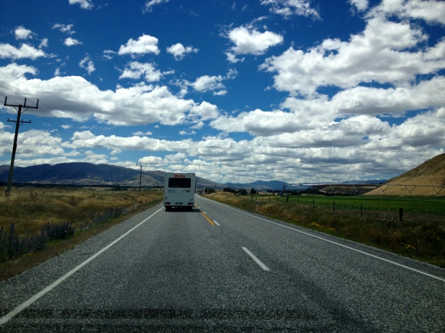 On the road, South Island, NZ