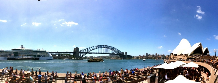 A panoramic view of the Sydney Harbour