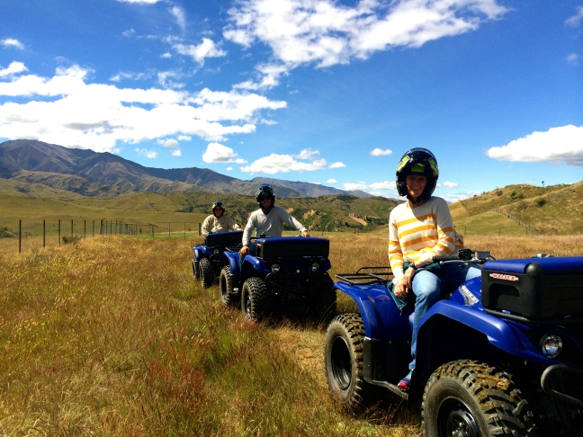 Blair, Jeff and Pepe started out on the quad bikes