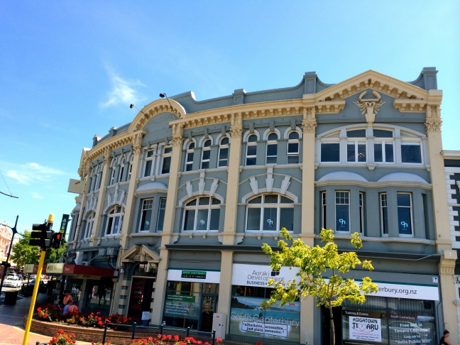 A building in Timaru reminds us of Market Square in Portsmouth!