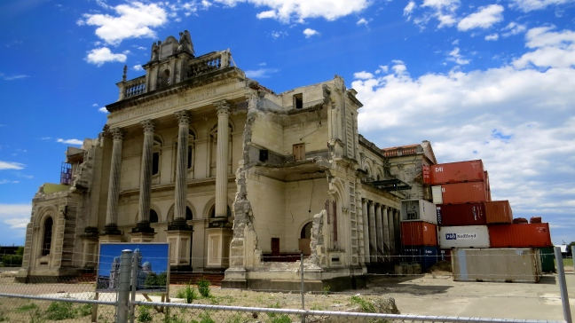 Christchurch building, in shambles