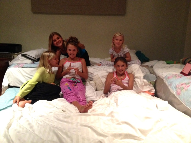 Slumber party with new friends!