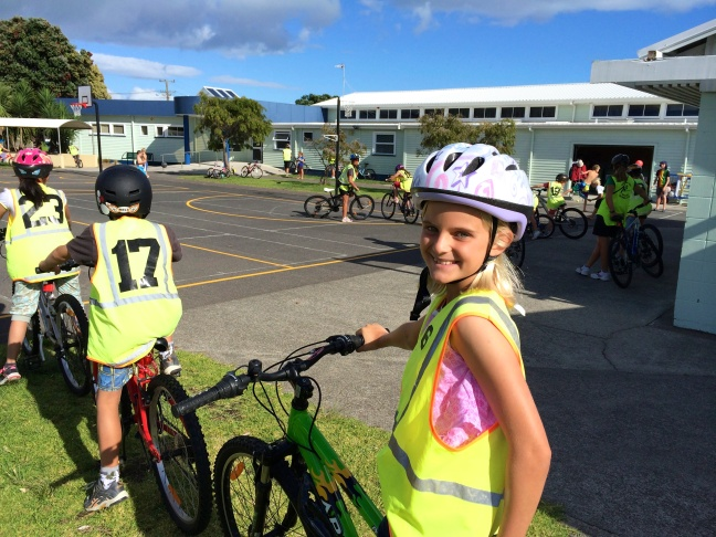 Zoe takes a bike safety class during the second week of school