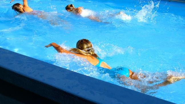 Swimming my laps...