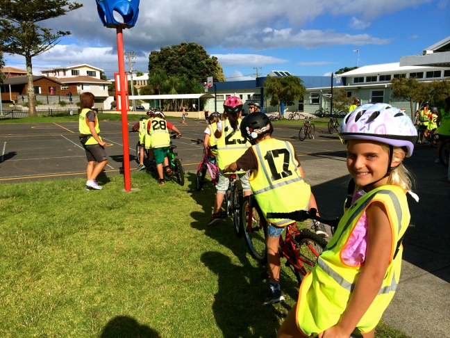 Getting ready to hit the roads on our bikes during bike safety week - Yeah!