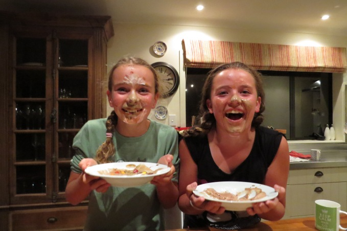 My best mates, Molly and Elle during ice cream sundae time at a sleepover I hosted!