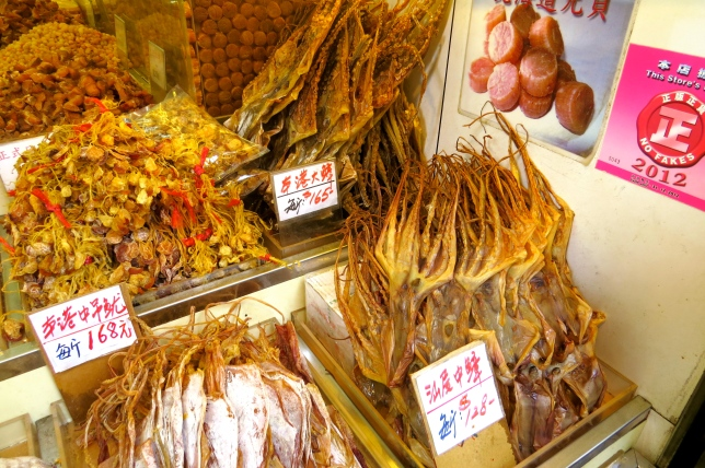 Assorted delicacies for sale… very smelly