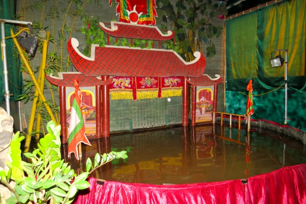 The water puppet theatre in Mr. Liem's home