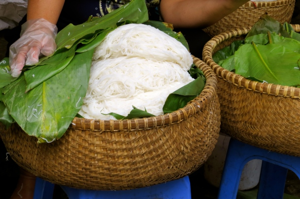Rice noodles are a staple of the Vietnamese diet, and these are as fresh as they come