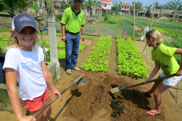 Digging our square gardens