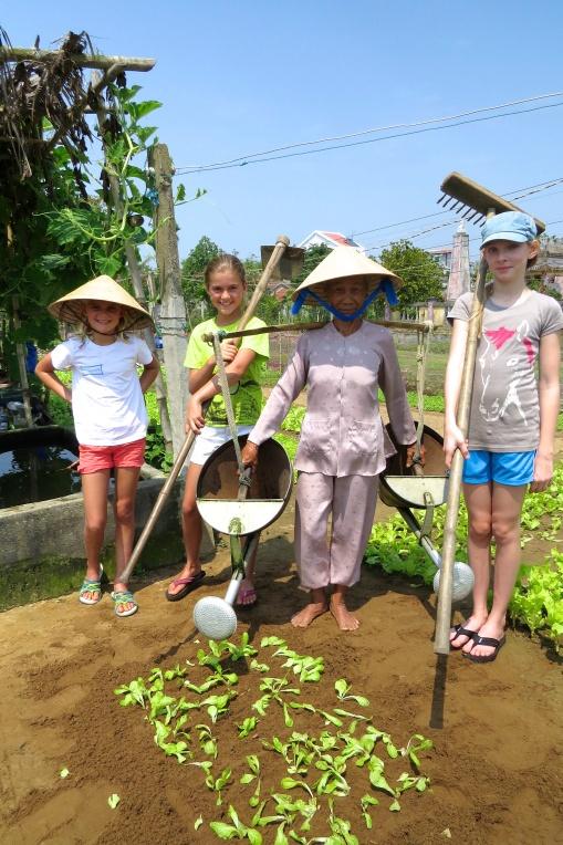Our little farmer girls