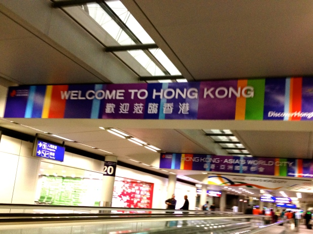 Upon arrival at the airport, a colorful welcome to a new continent!