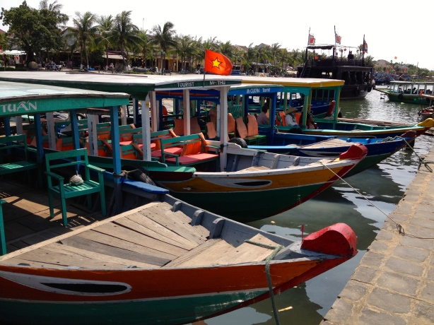 We hopped in one of these boats for a lovely river cruise