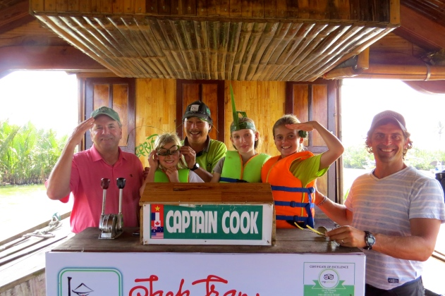 With Captain Cook, our host and chef