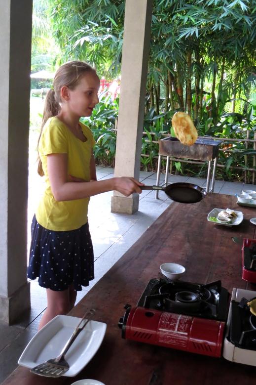 Haven masters the frying pan flip