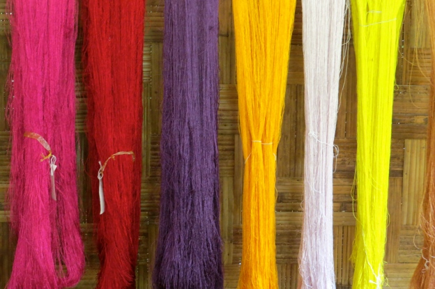 The natural dye colors at Ok Pop Tok