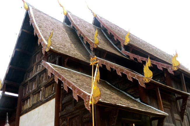 Lovely roof line of this original 15th century temple.