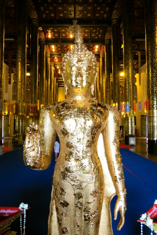 This Buddha statue greets you at the door of the temple.