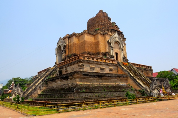 The remains of the large stupa, a tribute to Buddha built in the 15th century