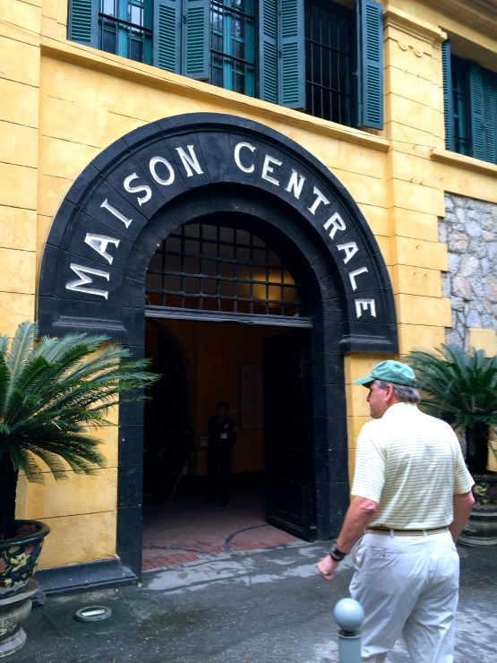 Jon, on his way into the Hanoi Hilton museum