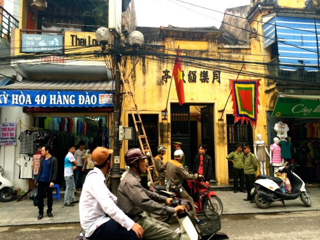 Along a street in Hanoi