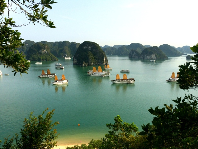 View of Halong Bay from the peak