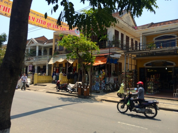 Typical street in Hoi An