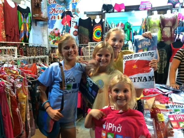 Souvenir shopping - it was fun to learn how to bargain and haggle with the storekeepers