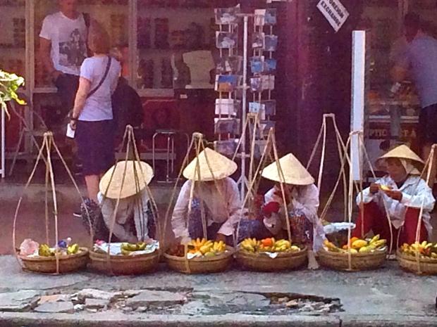 Ladies selling fruit in Hoi An