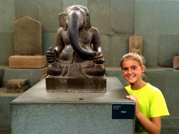Schuyler cozies up with Ganesh