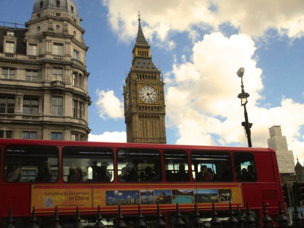 Big Ben and a double decker